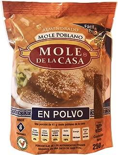 Mole de la Casa - Mexican Stew Condiment Paste (Mole Poblano Almendrado) from Mexico - 8.81 oz / 250 gr - 2 Pack