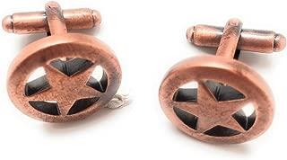 Williams and Clark Executive Men's Cufflinks Bronzed Copper Tone West Texas Lone Star Cuff Links