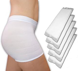 Premium-Kombi-Pack: 56St. große Wöchnerinnen Vorlagen mit Geruchskontrolle PLUS 4Stk. Wochenbett Panties mit Bein, wählbare Größen M