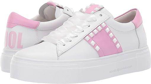 Bianco Calf/Pastel Pink Nappa