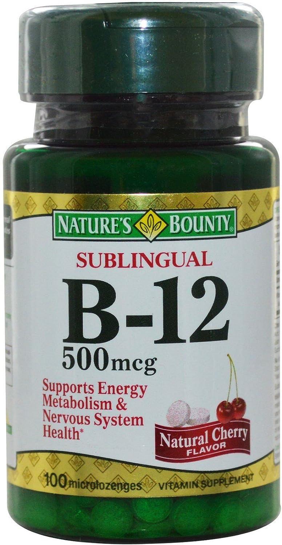 Nature's Bounty Vitamin B-12 500 mcg of チープ ea Pack 100 使い勝手の良い 4