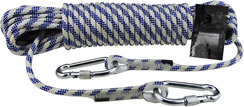 KTYXGKL Cuerda de escalada azul cuerda estática al aire libre ...