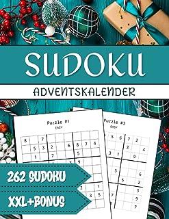Sudoku Adventskalender: Das XXL Rätsel Adventskalender Buch für Erwachsene mit 262 Sudokus von leicht bis schwer + Bonus W...