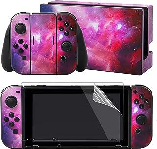 eXtremeRate full uppsättning ansiktsplatta huddekaler klistermärken för Nintendo switch med 2 st skärmskydd (konsol & Joy-...