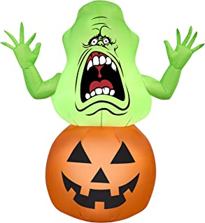 Halloween Inflatable 4 1/2' Slimer in Pumpkin Airblown Holiday Decoration by Gemmy