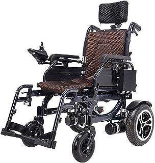 Sillas de ruedas eléctricas para adultos Plegable de alimentación compacto ayuda a la movilidad for sillas de ruedas Silla de ruedas eléctrica portátil ligero Vespa médica, Soporta 125 Lb, con pedales