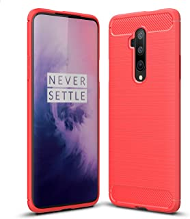DOHUI OnePlus 7T Pro Case, Ultra Slim Shock Absorption Soft TPU Drawing Protective Cases Cover for OnePlus 7T Pro (Red)