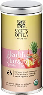 Lactation Tea- Healthy Nursing Fruits- USDA Organic- 20 Sachets (Fruits)