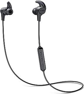 AUKEY Auriculares Bluetooth Inalámbricos Deportivos, Auricular Impermeable, 8 Horas Reproducción de Música, Micrófono Inco...