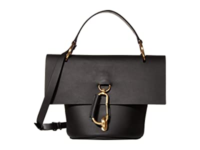 ZAC Zac Posen Belay Top-Handle Crossbody Solid (Black) Handbags