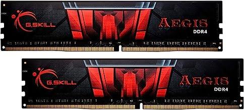 G.Skill Aegis Series 32GB (2 x 16GB) 288-Pin SDRAM PC4-25600 DDR4 3200 CL16-18-18-38 1.35V Dual Channel Desktop Memory Model F4-3200C16D-32GIS