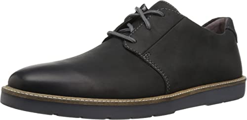 CLARKS Men's Grandin Plain Oxford, schwarz Leather, 130 M US
