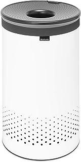 Corbeilles à Linge, 60 Litres - White / Couvercle Plastique Dark Grey