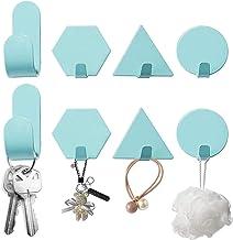 Besylo Geometrische wandhaken, 8 stuks, premium roestvrij staal, zelfklevende haken, wandhaken, zelfklevend, handdoekhake...