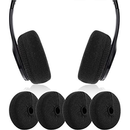 JARMOR Earpads Sweater Cover Protectors with Knit Fabric for Beats Solo 3/2 Wireless/Wired, Solo HD/Mixr/EP Headphones and Other Headsets with 1.57-3.14 Inch Ear Cushions [ 2 Pairs ] (Black)
