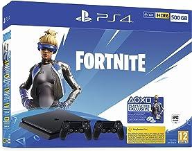 Playstation 4 (PS4) - Consola 500 Gb + 2 Mandos Dual Shock 4 + Contenido Fortnite (Edición Exclusiva Amazon)
