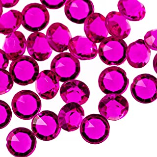 Trimming Shop 4000 Pieces Of Diamond Acrylic Table Scatters Tabletop Confetti Crystals For Wedding Bridal Shower And Birthday Party Decoration Colored Hot Pink