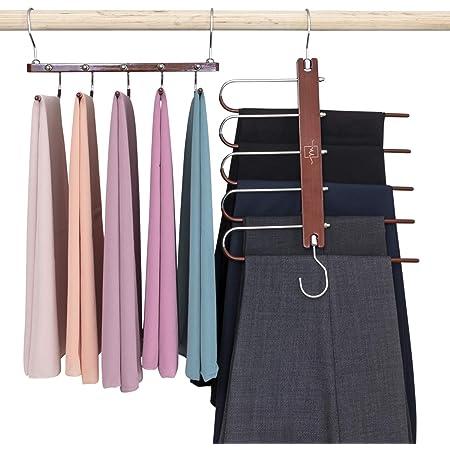 8x KIDS CLOTHES HANGERS Space Saving Slim Wardrobe Storage Tops Trousers Dresses