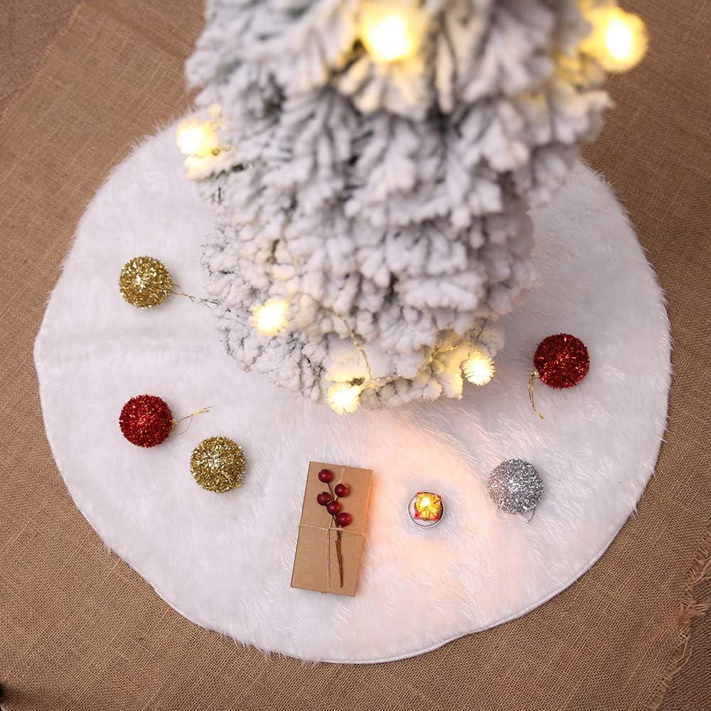 35.4 Weihnachtsbaumschmuck 90Cm fangkuai Weihnachten Wei/ßer Pl/üsch Weihnachtsbaumdecke