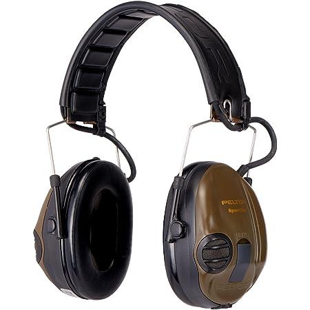 3M Peltor SportTac - Casque anti-bruit - Protection auditive pour la chasse contre les bruits de fusil - Atténuation 26 dB - 1 x casque antibruit, vert