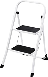ACKO Step Ladder 2 Step -Folding Step Stool for Adults with Handgrip Anti-Slip and Wide Pedal Multi-Use for Household and Office Portable Compact Small Ladders Hold up to 330lbs Steel