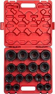 Sunex 4683, 3/4 Inch Drive Heavy Duty Impact Socket Set, 17-Piece, SAE, 1