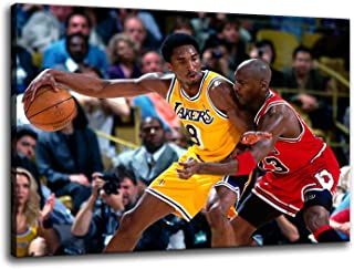 Kobe MJ Posters Canvas Wall Art Painting Legends Star Classic Matchup HD Pictures Prints on Canvas Modern Home Decor Artwo...