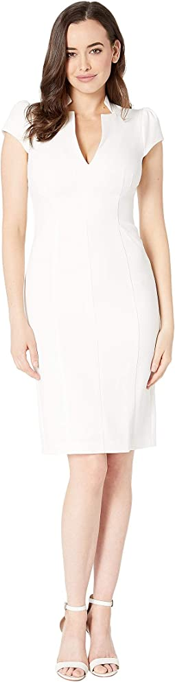 Kors Crepe Cap Sleeve Bodycon Dress