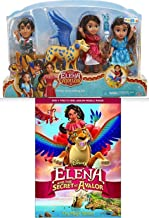 Doll Disney Movie Set DVD Elena and the Secret of Avalor + Mini Doll Set Elena of Avalor 4 Character Bundle