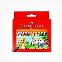 Faber-Castell Jumbo Wax Crayons – 24 Shades