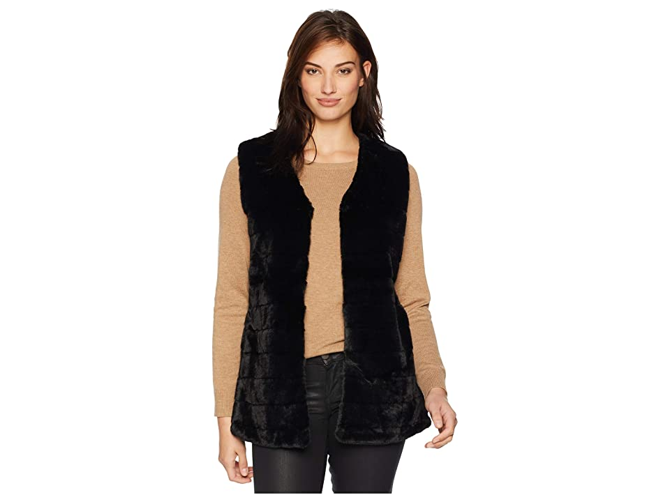 Echo Design Faux Fur Vest (Echo Black) Women