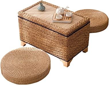 Coffee Table Storage Coffee Table Rattan Table Household Tatami Table Balcony Bay Window Tea Table Gift (Color : B, Size : 70