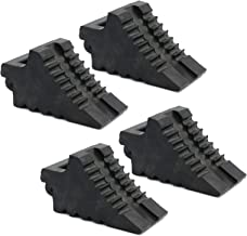 AFA Tooling Chock Blocks (4 Pcs) Rubber Dual Wheel Tire Chocks Front and Back for Camper, Trailer, RV, Truck, Car and ATV ...
