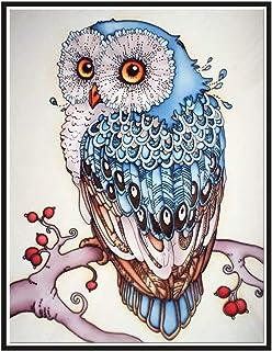 Farzeo 5D DIY Owl Diamond Painting Animals Full Drill Round Rhinestones DIY Diamond Art of 5D Diamond Embroidery Owl Diamo...