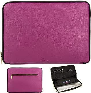 11.6-15.6 Inch Laptop Sleeve Electronic Organizer Bag (14-15.6 Inch, Purple/Black)