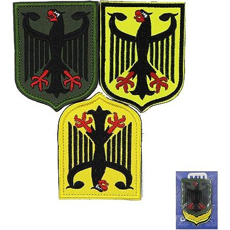 Alemania escudo de armas alem/án /águila escudo met/álico bordado iron on Sew On patch