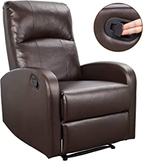 Homall Recliner Chair Sofa Home Theater Seating Pu Leather Modern Couch, Bright Brown