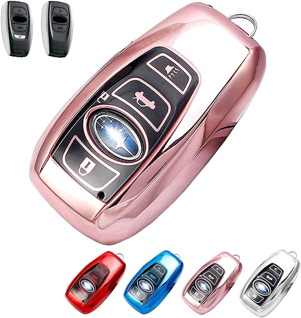 Soft Tpu Complete Free Shipping Smart Remote safety Car Key FOB Cover Fit Suba Holder Case for