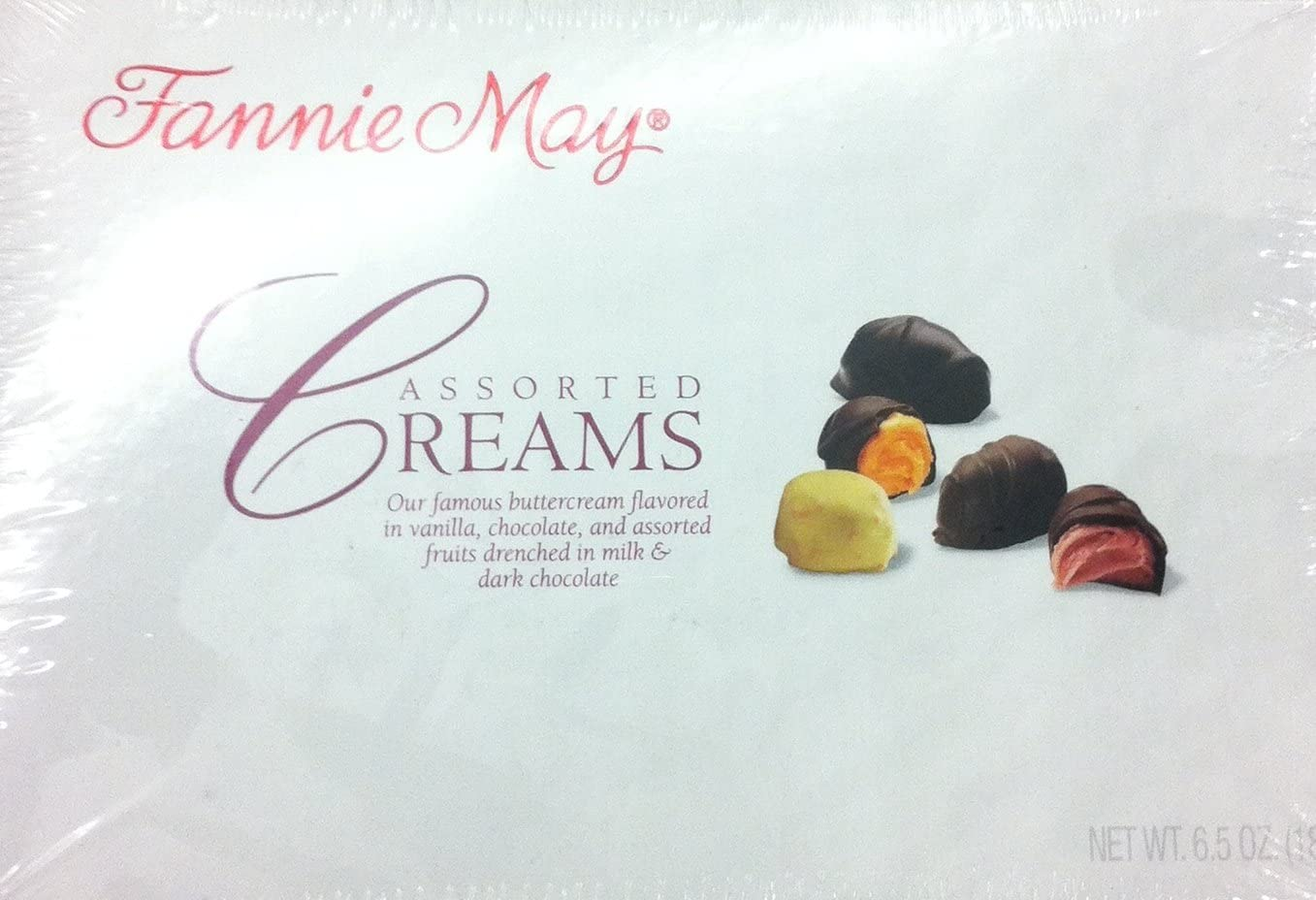 Fannie May Assorted Creams Oz. Box Max 41% OFF Sale Candy----6.5 Chocolate