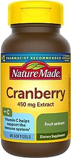 Nature Made Cranberry + Vitamin C Softgels, 60 Count