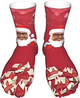 xHxttL, Calcetines faciales personalizados, divertidos calcetines faciales personalizados Calcetines navideños con fotos Calcetines divertidos personalizables con foto y texto, regalo para mujeres, hombres