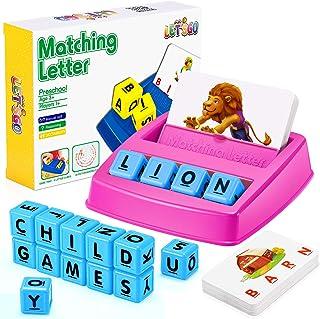 LET'S GO! Educational Toys for Kids 3-8, Matching Letter Game for Kids Spelling Games for Kids Ages 3-8 Preschool Kinderga...