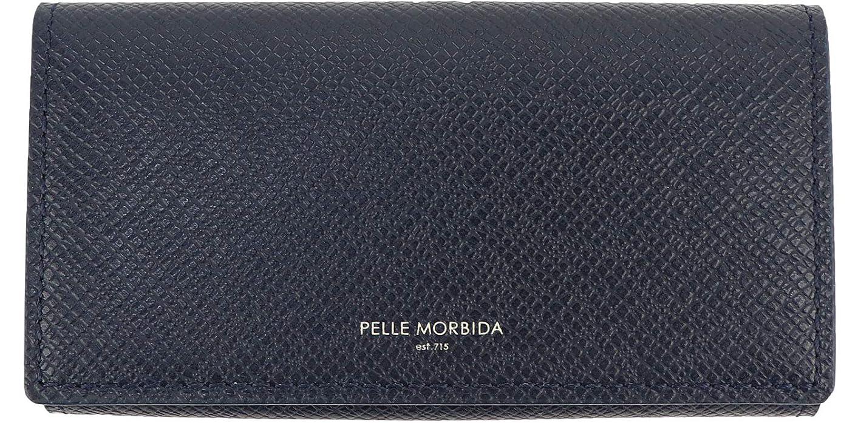 疑わしいもっと少なくほのか[PELLE MORBIDA ペッレモルビダ] 型押しレザー キーケース PMO-BA317 NVY(ネイビー)