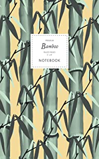 Bamboo Notebook - Ruled Pages - 5x8 - Premium: (Sunset Edition) Notebook 96 ruled/lined pages (5x8 inches / 12.7x20.3cm / ...