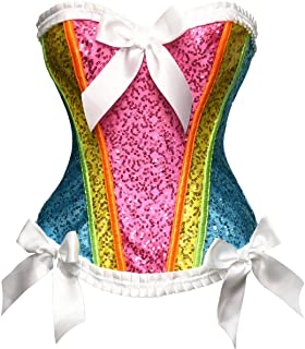 rainbow corset dress