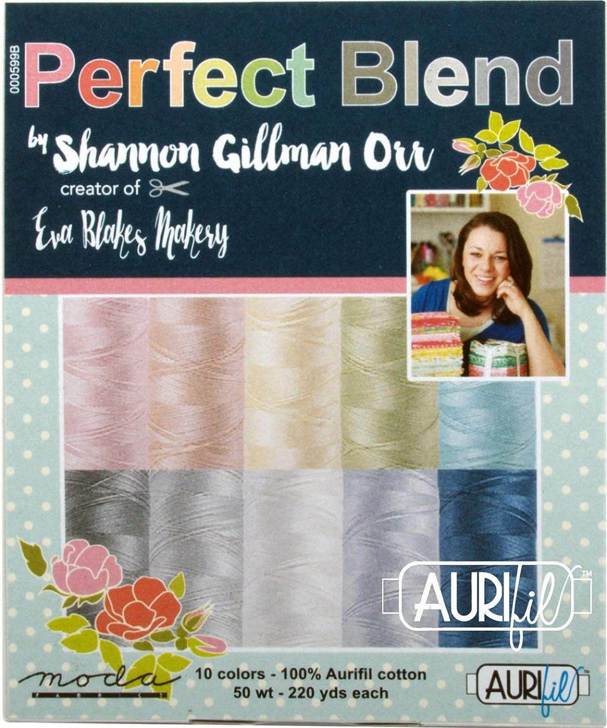 Shannon Gillman Orr Perfect Blend Aurifil Thread Kit 10 Small Spools 50 Weight SO50PB10
