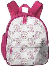 Mochila Infantil niña,Unicorn Mom In White_5046 - comfybabyboutique, para escuelas Infantiles Oxford Cloth (Rosa)