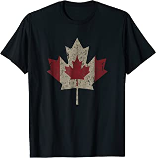 Vintage Canada Flag Shirt Maple Leaf Canadian Pride T-Shirt