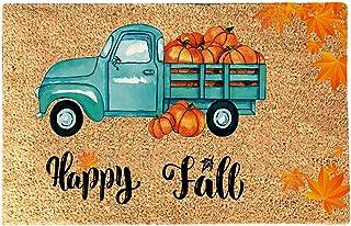 Forevershop Funny Thanksgiving Doormat Blanket   Anti-Slip Bottom Fall Welcome Door Mat for Home Front Entryway Autumn Dec...