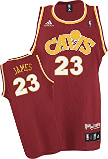 adidas Cleveland Cavaliers #23 LeBron James Wine Cav Fanatic Swingman Basketball Jersey